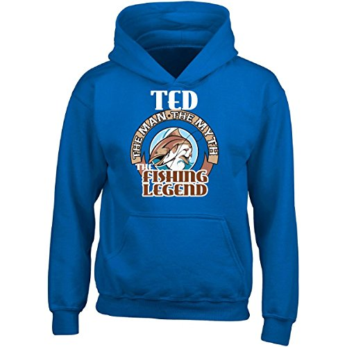 Ted Adult Hoodie (Ted The Man They Myth The Fishing Legend Funny - Adult Hoodie 5xl Royal)