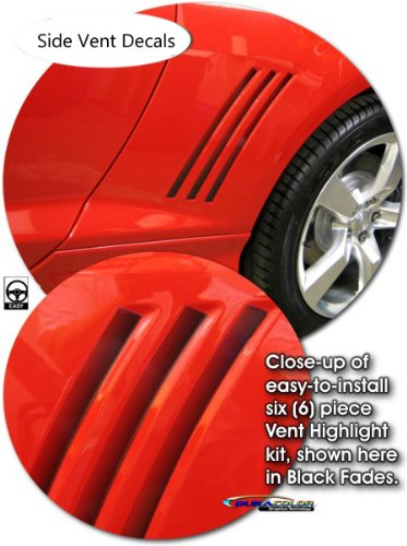 Camaro Faded negro ventilación lateral adhesivos, 2010 - 2012 Camaro: Amazon.es: Coche y moto