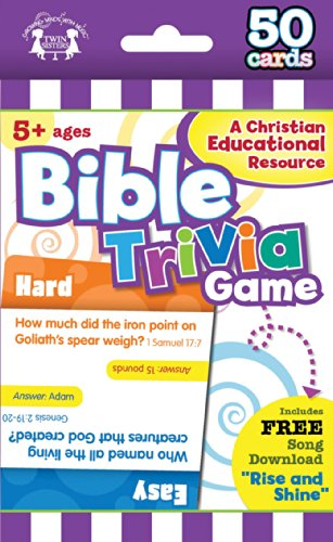 Bible Trivia Christian 50-Count Game Cards (Im Learning the Bible Flash Cards)
