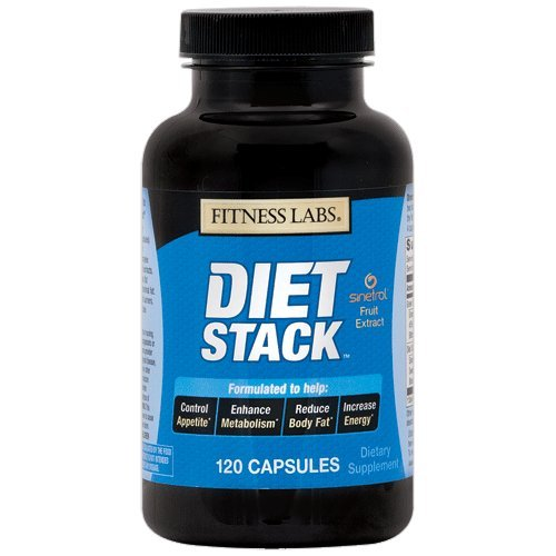 Fitness Labs Diet Stack with Green Tea, Bitter Orange, Sinetrol® XPUR Extracts, L-Tyrosine, Caffeine and more, 120 Capsules