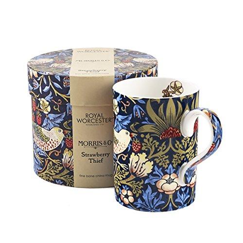 Portmeirion Royal Worcester Strawberry Thief - Indigo Mineral Gift Boxed Mug -