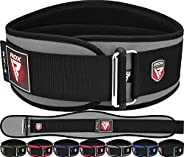 """RDX Weight Lifting Belt,6"""" Curved Padded Back Lumbar Support, Functional Fitness Strength Training, Core Exerc"""