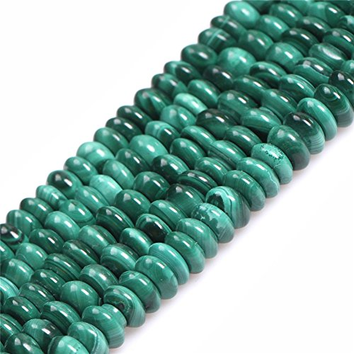 - JOE FOREMAN 4x6mm Malachite Semi Precious Gemstone Rondelle Loose Beads for Jewelry Making DIY Handmade Craft Supplies 15