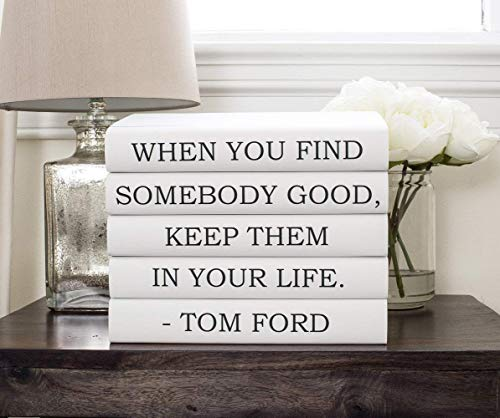Tom Ford Quote Books, Designer Quote, Quote Books, Decorative Books, Black Books, Anniversary Gift, Wedding Centerpiece, Bookworm, Gift for Friend, Book Decor, Book Lover -