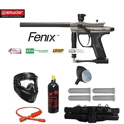 MAddog Kingman Spyder Fenix Silver Paintball Gun Package - Silver/Grey ()