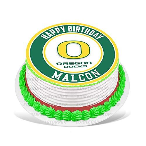 (PartyPrint Oregon Ducks Edible Cake Topper Personalized Birthday 6