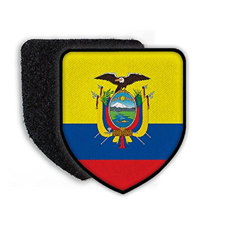 Flag of Ecuador country national coat of arms - Patch / Patches - Ecuador Coat