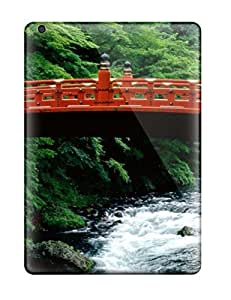 Durable Protector Case Cover With A Red Bridge Over A Fast Stream Hot Design For Ipad Air