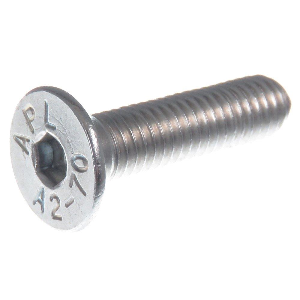 20 piezas SECCARO Tornillo avellanado M8 x 45 mm DIN 7991 // ISO 10642 acero inoxidable V2A VA A2 hex/ágono interior