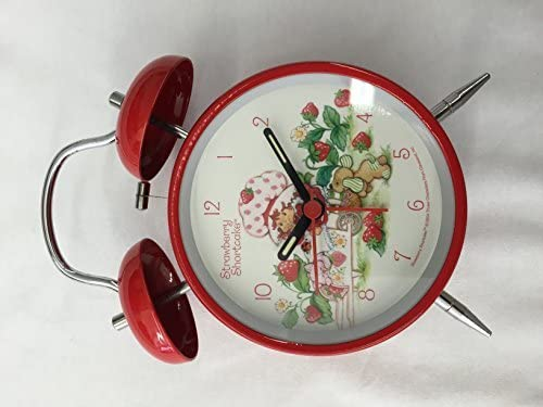 Strawberry Shortcake Twin Bell Alarm Clock Batteries Not Included