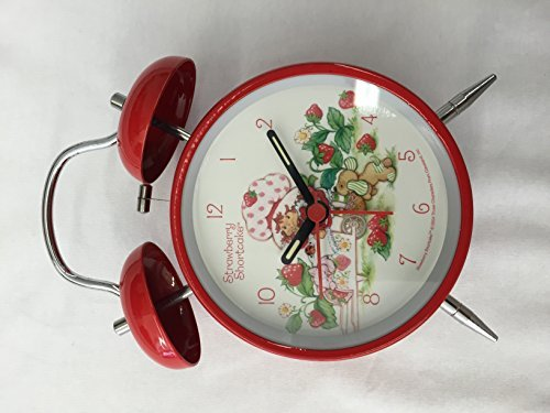 (Strawberry Shortcake Twin Bell Alarm Clock(Batteries Not Included))