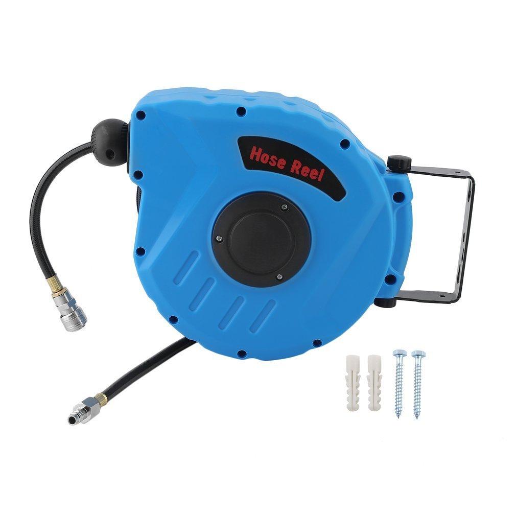 Druckluftschlauch Aufroller Trommel Pneumatische Schlauchhaspel 10M Schnellkupplung 3/8 einziehbare beiliegende Spule Hifeel