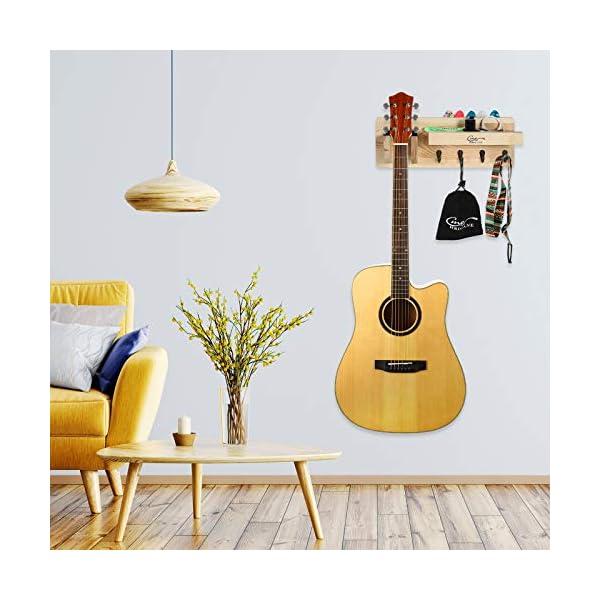 Hricane Guitar Stand Supporto Guitar Guitar Hanger Mount Wood Gancio per chitarra acustica elettrica Bass Ukulele