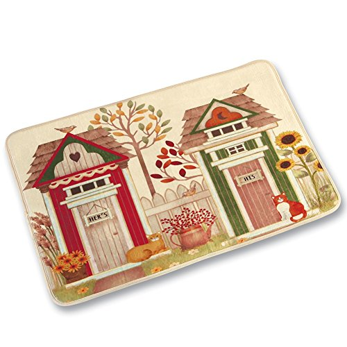 Collections Etc Country Outhouse Bath Rug