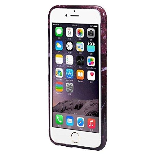 "Funda iPhone 6 / 6s Textura de mármol Impresión Cover Case Para 4.7"" iPhone 6 / 6s (Rojo) Rojo"