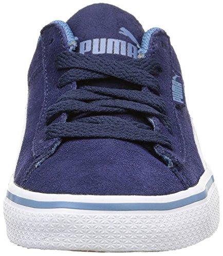 Puma 1948 Vulc Jr Unisex-Kinder Low-Top Blau - Bleu (Peacoat/White)