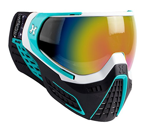 HK Army KLR Goggles - Mist - White / Teal w/ Fusion Mirror Thermal Lens by HK Army