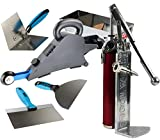 High Production Delko Remodeler/DIY Drywall Taping Banjo Kit with Cinta Pump for Fast Filling Plus Mud Pan, Taping Knives, Corner Trowel