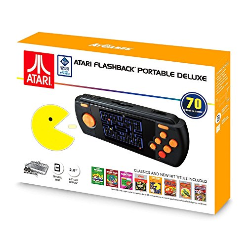 Atari Flashback Portable Deluxe Edition - Hand Held Console with 70 built-in games