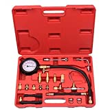 Meharbour Professional 0-140PSI Fuel Injector Injection Pump Pressure Tester Gauge Kit Car Tools for Gasoline-driven Car, Truck, RV, SUV & ATV (US STOCK)