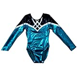 Demi Competition Gymnastics Leotard Rhinestones Long Sleeves TL033