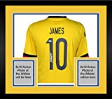 Framed James Rodriguez Colombia Autographed Yellow Jersey - Fanatics Authentic Certified - Autographed Soccer Jerseys