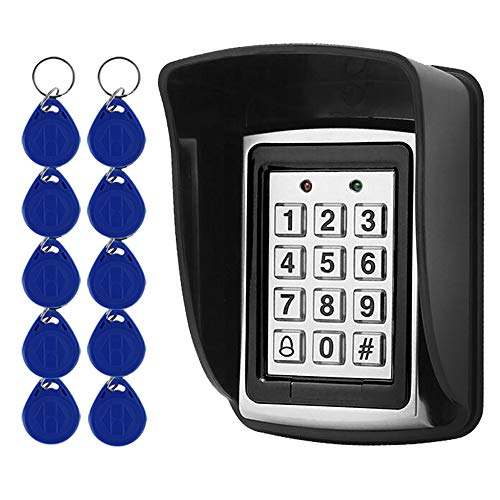 UHPPOTE Access Control Keypad 125khz RFID Door Entry Controller with Waterproof Cover