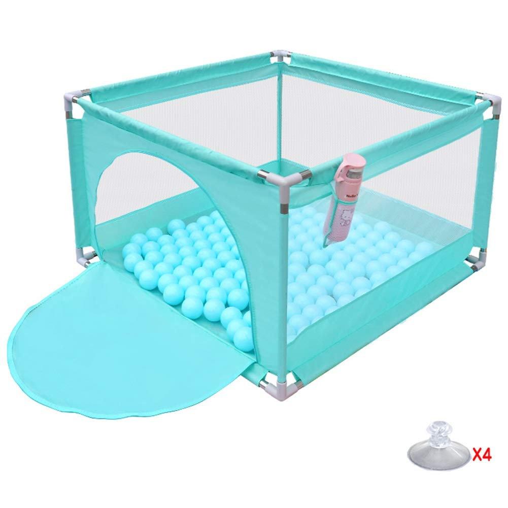 GREEN Playard, Portable Baby Play Yard with Non-Slip, Anti-Collision Safety Playpen for Toddlers - 105 × 105 × 66cm (color   Green)