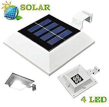 Marvelous Solar Powered 4 LED Licht Für Outdoor Garten, Dach Gosse, Faszie Board, Zaun