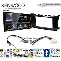Volunteer Audio Kenwood DMX7704S Double Din Radio Install Kit with Apple CarPlay Android Auto Bluetooth Fits 2013-2015 Nissan Altima