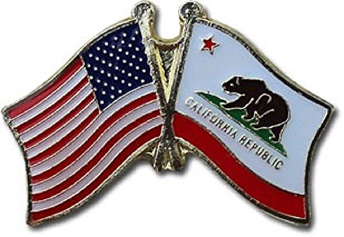 (ALBATROS Pack of 3 USA American California State Flag Lapel Pin for Bike Hat and Cap for Home and Parades, Official Party, All Weather Indoors Outdoors)