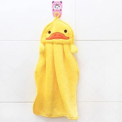 ZHJZ - Toalla de Mano para guardería, diseño de Pato, Color Amarillo