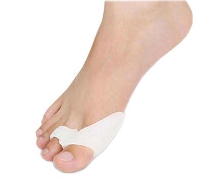 Hosaire 2X Gel de Silicona del Juanete Corrector Protector Toe Enderezadora del Separador Blanco