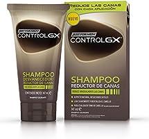 Just For Men Control GX Champú Reductor de Canas - Tinte para las canas del pelo para hombres - 147 ml
