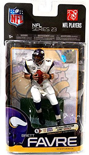 - McFarlane Toys NFL Sports Picks Series 23 Action Figure Brett Favre (Minnesota Vikings) White Jersey Bronze Collector Level Chase