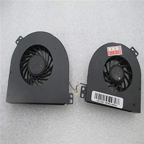 CPU GPU Fan for DELL Precision M4600 02HC9 002HC9 MG75150V1-C010-S99 MG75150V1-C000-S99 05PJ49 490109v00-H17-G 49010A200-H17-G