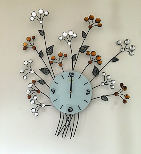 Decorative Metal Wall Clock (28''x25''inch) By MEIDA (Mirrors Huge Wall)