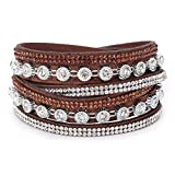 Women Bohemian Style Multilayer Wristband Prayer Jewelry Bangle Charm Bracelets Gift for Girls Mens Teens Student Best Friend Forever(H)