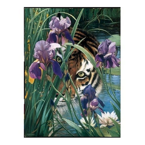 Iris Tiger Jigsaw Puzzle 1000pc by Serendipity