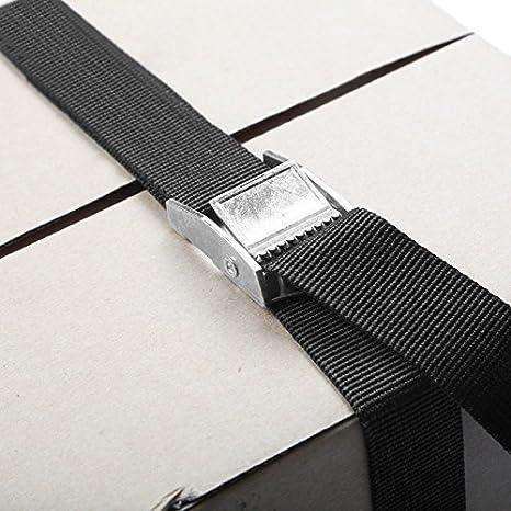 4 Pcs Kit de Fixation avec Sangle de Serrage Boucle de Serrage pour Moto Aicoimy Sangle dArrimage Porte V/élo Voiture 25mm*250cm, 25mm*400cm
