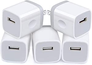 iPhone 12 Charger Adapter Fast Charging, 5Pack Single Port Wall Plug Fast Charger Cube Travel Power Blocks Compatible iPhone SE /12/11 Pro Max, Samsung S20 FE Plus Note 20 Ultra A01 A51 A50 A21 5Pack