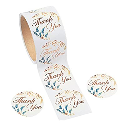 SWEET FALL THANK YOU ROLL STICKERS - Stationery - 1 Piece: Home & Kitchen