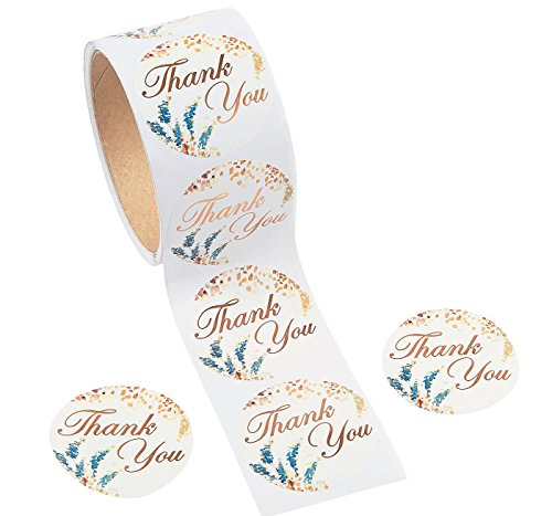 (Sweet Fall Thank You Stickers (100 Stickers per Roll ) 2
