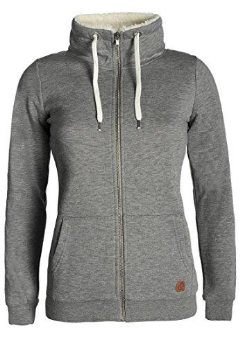 DESIRES Derby Pile Zip - Sudaderas con capucha para Mujer Grey Melange (8236)