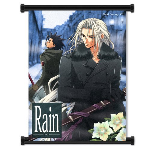 (Final Fantasy VII Game Sephiroth and Zack Fabric Wall Scroll Poster (16