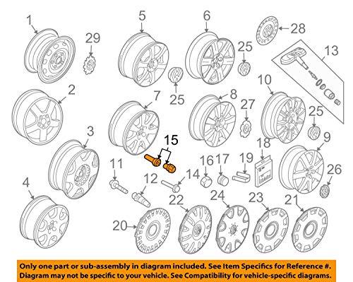 Volkswagen Locking Wheel Bolts Beetle, CC, Golf, Jetta, Tiguan 1K0698137A