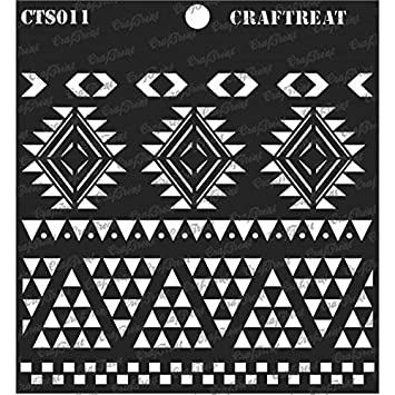 Fabric Home Decor Reusable Painting Template for Journal Crafting CrafTreat Stencil Notebook Wood 12X12 Scrapbook and Printing on Paper Wall Tile DIY Albums Floor Basketweave