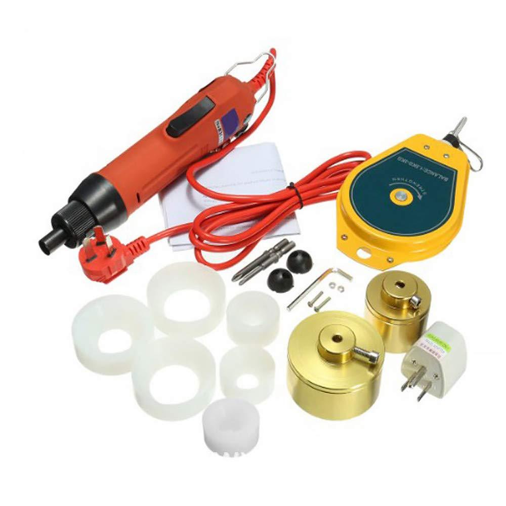 HUKOER Tappatrice elettrica Manuale tappatrice 220V cap /è Adatta per 10-50mm Fino a 90 Bottiglie per Un Minuto