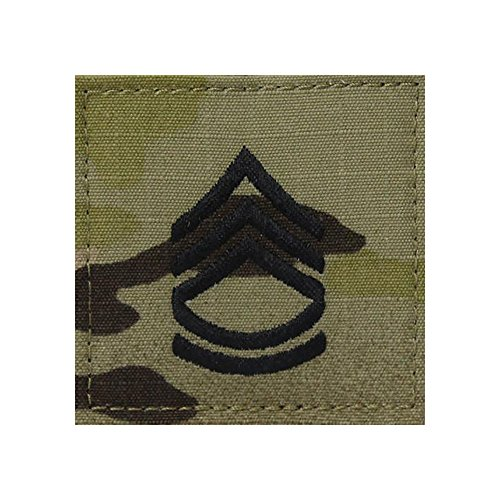 Sergeant Military Rank (US Army OCP Multicam Rank Sew-on for Shirt - Sergeant First Class)