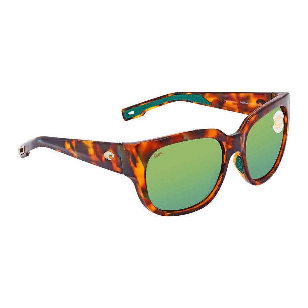 Costa Waterwoman Plastic Frame Green Mirror Lens Ladies Sunglasses WTW250OGMP by Costa Del Mar